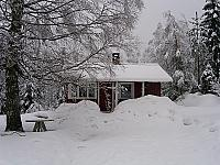 Hut in de winter.